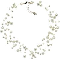 Finesse Pearl Illusion Necklace, White