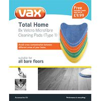 Vax Total Home Microfibre Cleaning Pads Type 1
