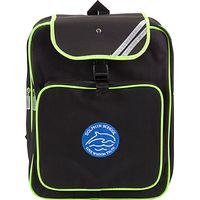 Dolphin School Unisex High Visibility Backpack, Black