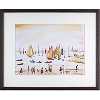 L. S. Lowry - Yachts 1959 Framed Print, 42 x 34cm