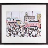 L. S. Lowry - Going to Work 1959 Framed Print, 40.4 x 50.8cm