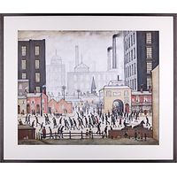 L. S. Lowry - Coming From The Mill 1930 Framed Print, 80 x 68cm