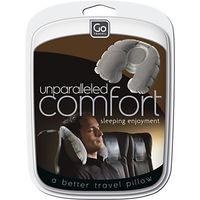 Go Travel Super Snoozer Inflatable Travel Pillow, Grey