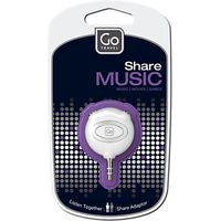 Go Travel Share Double Headphone Adaptor, White