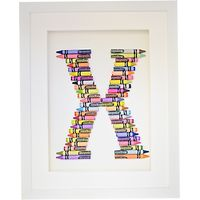 The Letteroom Crayon X Framed 3D Artwork, 34 x 29cm