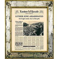 Brookpace, The Versailles Collection - Martin Luther Assassination Framed Print, 55 x 45cm