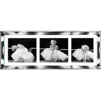 Brookpace, The Manhattan Collection - Ballerina Triptych Framed Print, 39 x 102cm