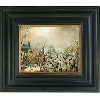 Rijksmuseum, Hendrick Avercamp - Winter Landscape with Skaters Framed Print, 36 x 42cm