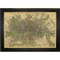 Brookpace, Vintage Maps Collection - London Framed Print, 76 x 107cm
