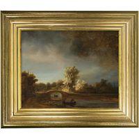 Rijksmuseum, Rembrandt Harmensz. van Rijn - The Stone Bridge Framed Print, 29 x 34cm