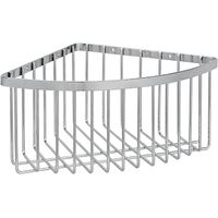 John Lewis Stainless steel Deep Shower Corner Basket