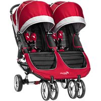 Baby Jogger City Mini Twin Pushchair, Crimson/Grey