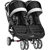 Baby Jogger City Mini Twin Pushchair, Black/Grey