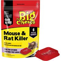 The Big Cheese Mouse and Rat Killer Pasta Bait, 6 Sachets