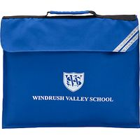 Windrush Valley School Book Bag, Royal Blue