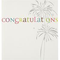 Caroline Gardner Fireworks Congratulations Card