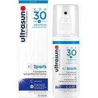 Ultrasun SPF 30 Sports Transparent Sun Protection Spray, 150ml