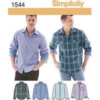 Simplicity Mens Shirts Dressmaking Leaflet, 1544