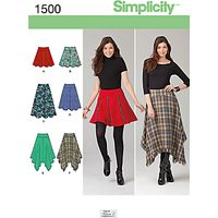 Simplicity Womens Skirt Sewing Patter, 1500