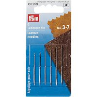 Prym Assorted Leather Needles, Sizes 3-7, Pack of 6