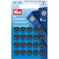 Prym Snap Fasteners, 9mm, Pack of 20