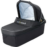 Out N About Nipper Double Carrycot, Black