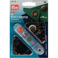 Prym Sport and Camping Press Fasteners, 15mm, Antique Brass