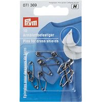 Prym Dress Shield Safety Pins, 19mm, Pack of 10
