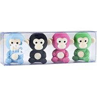 Tinc Monkey Eraser Collection, Pack of 4