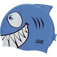 Zoggs Easy Fit Junior Jaws Character Cap, Blue