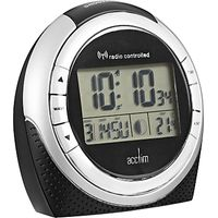 Acctim Zenith Radio Controlled LCD Alarm Clock