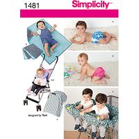 Simplicity Craft Childrens Accessories Sewing Pattern, 1481