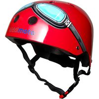 Kiddimoto Red Goggles Helmet, Small