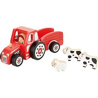 John Lewis Wooden Tractor and Trailer
