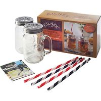 Kilner Mug and Straw Set, 9 Pieces