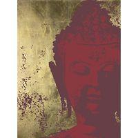 Ulyana Hammond - Buddha Canvas Print, Red and Gold, 68 x 100cm