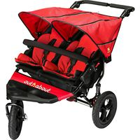 Out N About Nipper V4 Double Pushchair, Red
