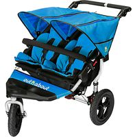 Out N About Nipper 360 Double V4 Pushchair, Lagoon Blue