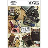 Vogue Bags, Eyeglass Case and Journal Cover Sewing Pattern, 8407