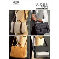 Vogue Messenger Bags Sewing Patterns, 8990