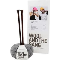 Wool and the Gang Zion Lion Hat Knitting Kit, Tweed Grey