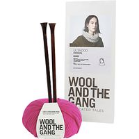 Wool and the Gang Lil Snood Dogg Knitting Kit, Hot Punk Pink