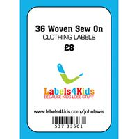 Labels4Kids Woven Sew On Clothing Labels, Pack of 36