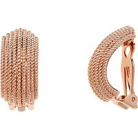 Finesse Textured Clip-On Earrings, Rose Gold