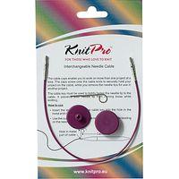 Knit Pro Single Cable Interchangeable Needle Cable, 20cm, Purple