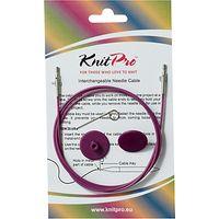 Knit Pro Single Cable Interchangeable Needle Cable, 94cm, Purple