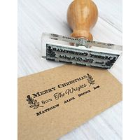 StompStamps Personalised Family Christmas Signature Stamp