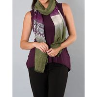 Chesca Scenic Scarf, Green/Violet