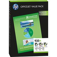 HP 935XL Ink Cartridge, Cyan, Magenta and Yellow Combo Pack, F6U78AE