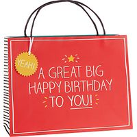 Happy Jackson Great Big Birthday Shopper Gift Bag